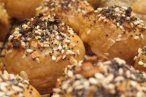 Stuffed bagel holes.