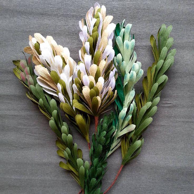 #Handmade #paper #crepepaper #decoration #leaves #branch