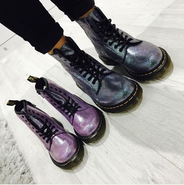 The Pascal Sparkle boot, and  the Delaney Sparkle boot. Photo by stephanie_pinklime. Available at dnafootwear.com