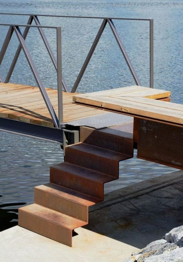Best Buy Corten Steel Steps Landscape Features The P*T 400 x 300