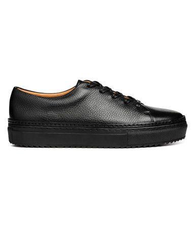 Sneakers i läder   Svart   Herr   H&M SE
