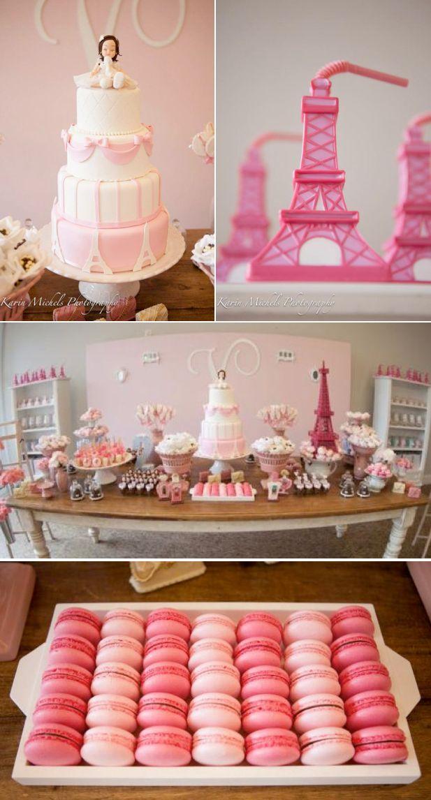 Pink Paris Themed Birthday Party via Karas Party Ideas KarasPartyIdeas.com #pink #paris #birthday #party #ideas #cake
