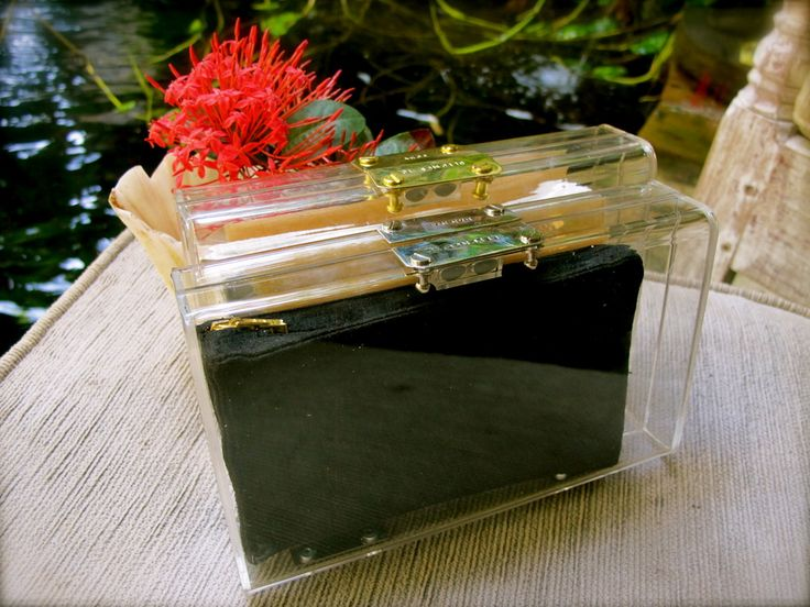 Perspex Personalised Clear Clutch with Changeable Pouch