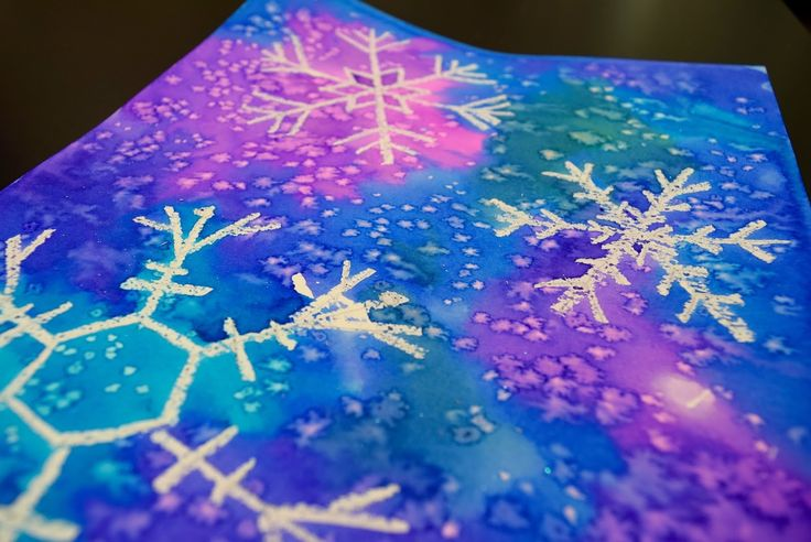 Art with Mrs. Nguyen (Gram): Watercolor Snowflakes 2.0 (3rd)