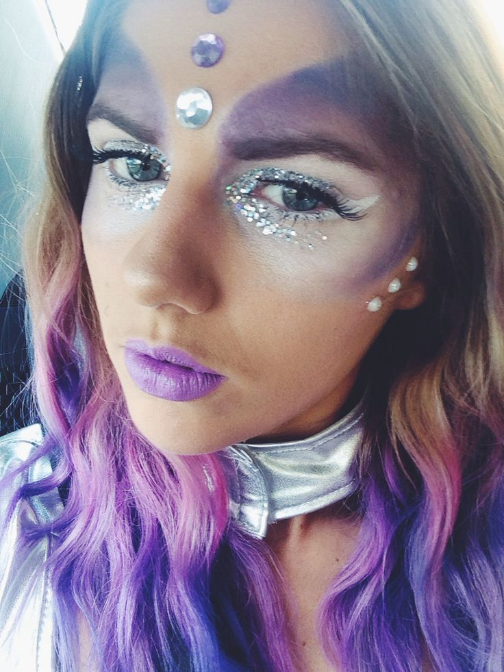 Space alien costume makeup beauty pinterest space for Outer space outfit