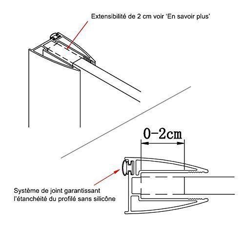 Paroi de douche fixe 10 mm STURDY – 100 cm: Price:224La gamme de parois de douche à l'italienne STURDYse distingue par sa solidité grâce à…