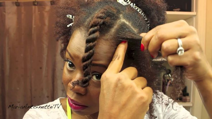 How to Flat Twist Natural Hair - Tutorial