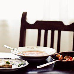 Zupa krem pomidorowa z mascarpone i bazylią | Kwestia Smaku