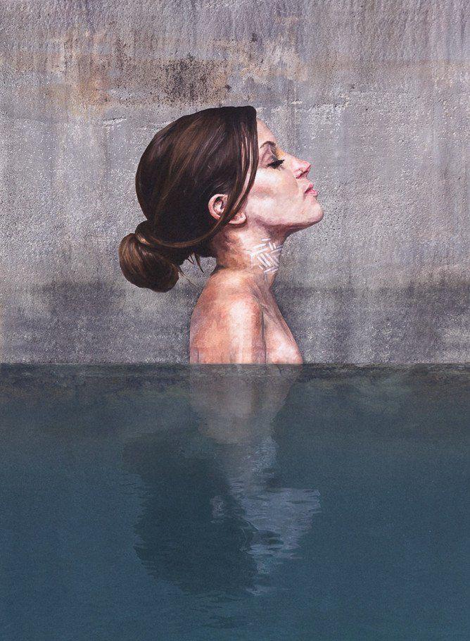 Best HULA Sean Yoro Images On Pinterest Abandoned Art - Artist paints incredible seaside murals balanced on surfboard