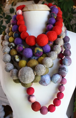 Necklace :: Made from felt beads