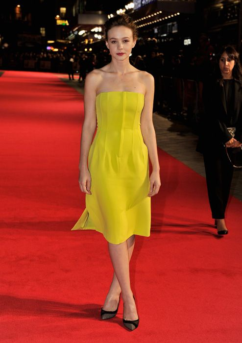Carey Mulligan at the London Film Festival premiere of Inside Llewyn Davis