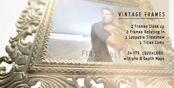 Vintage Frames Classical Wedding Photo Gallery for After Effects