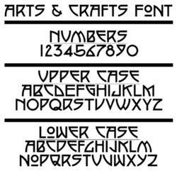 Arts & Crafts font