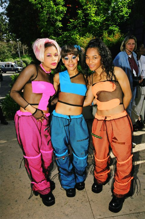 When TLC hit the scene, the music world went nuts—the drama! The music! The money! The girl gang had several signature looks, and their coordinating outfits marked an era of in-sync squads, which included groups like Destiny's Child.