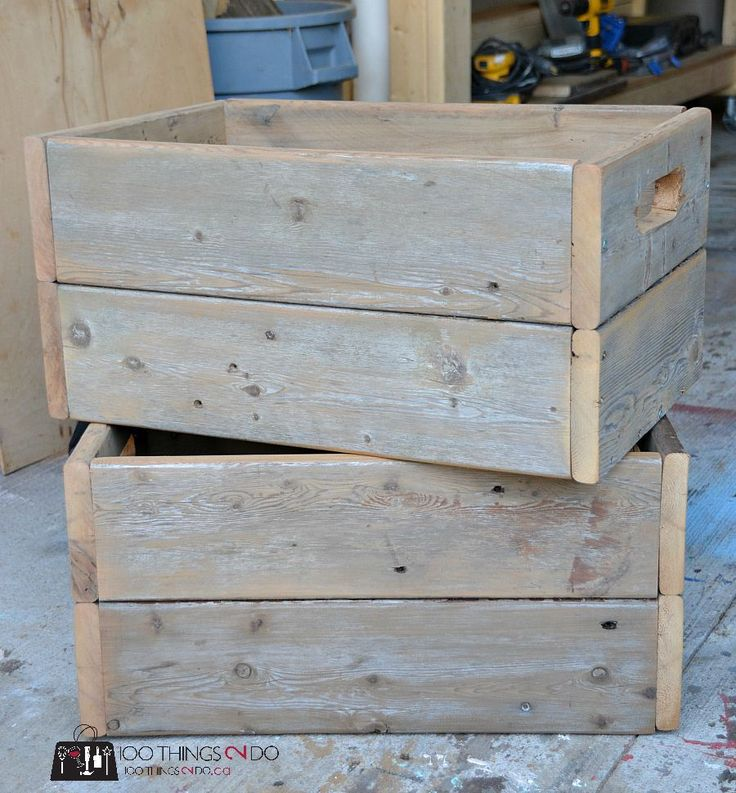 DIY Rustic crates - measurements and decor ideas. (Great for Christmas deliveries!)