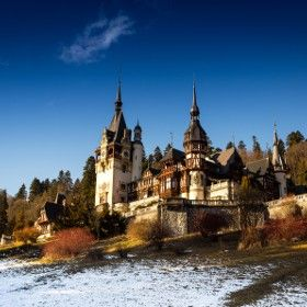 Peleș Castle is a Neo-Renaissance castle in the Carpathian Mountains, near Sinaia, in Prahova County, Romania, on an existing medieval route linking Transylvania and Wallachia, built between 1873 and 1914. Its inauguration was held in 1883