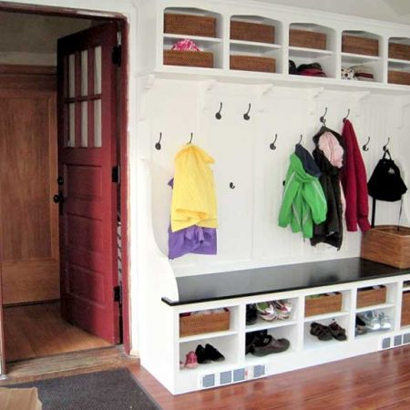 Love the built-in in this family's mudroom!