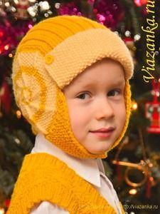 Шапочка-шлем для мальчика 4-5 лет