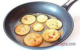 Рецепт: Жареные кабачки с чесночным соусом - пошаговый фото рецепт приготовления