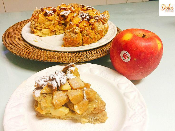 """Torta di Pane e Mele Senza Burro, un dolce """"povero"""" dall'aspetto rustico ma davvero goloso e delicato. Facile e veloce da preparare con pochi ingredienti!"""