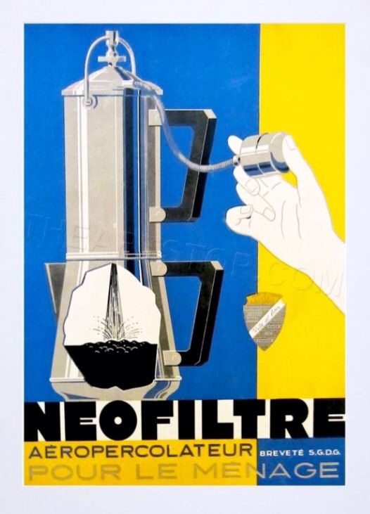 Vintage Plakat, Retrowerbung Filterkaffeemaschine, Vintage Ad