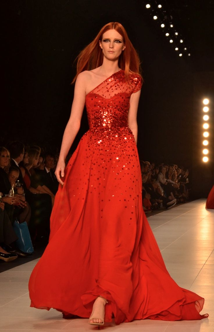 Alex Perry Gown Katniss Everdeen Inspired Marine Corps