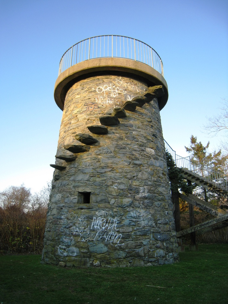 Brenton Point Lookout Tower, Brenton Point State Park in Newport, RI.Rhode Island