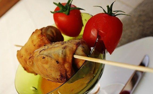Fagottini di parmigiana con pasta fillo