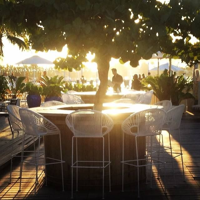 Puerto Stools at sunset by Innit Designs at the Standard Hotel in Miami Beach
