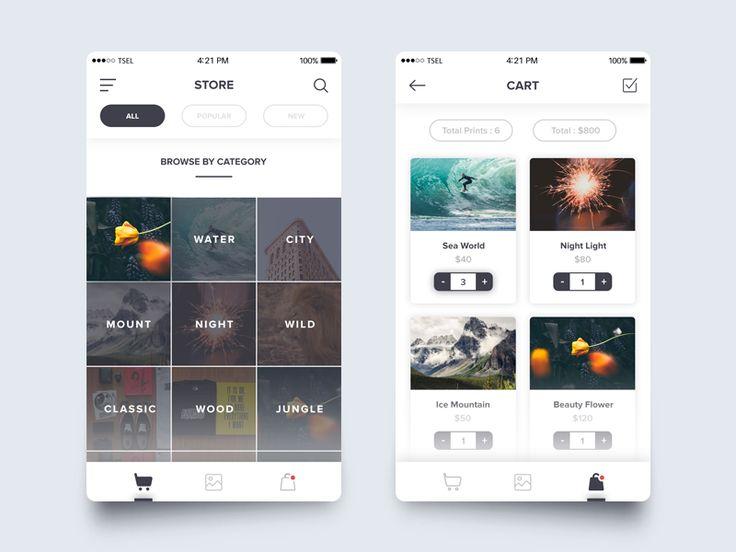 Photo Market App Concept