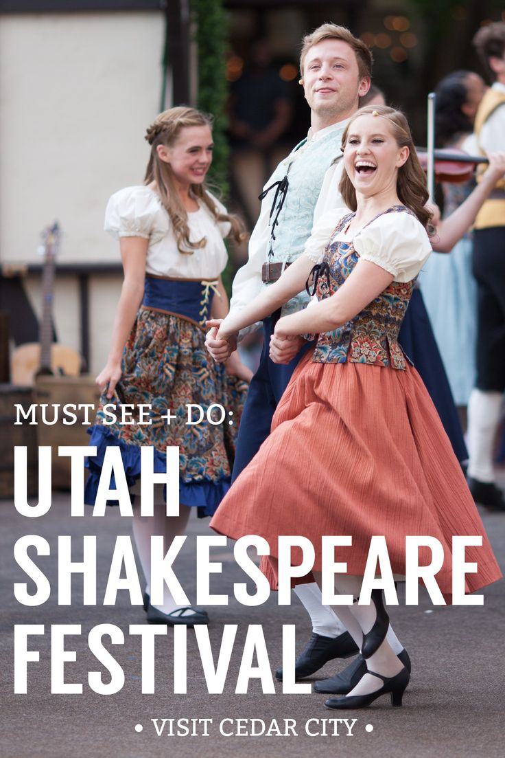 Walking the tree lined courtyard of the Utah Shakespeare Festival lively music beckons you like pied piper. Taking your seat in the grand Engelstad outdoor theater, the spotlight rises and Elizabethan costumed actors take to the stage. You've entered a time warp and a magical evening under the stars is about to begin at the Utah Shakespeare Festival.   #UtahShakes #CedarCityArts #VisitCedarCity