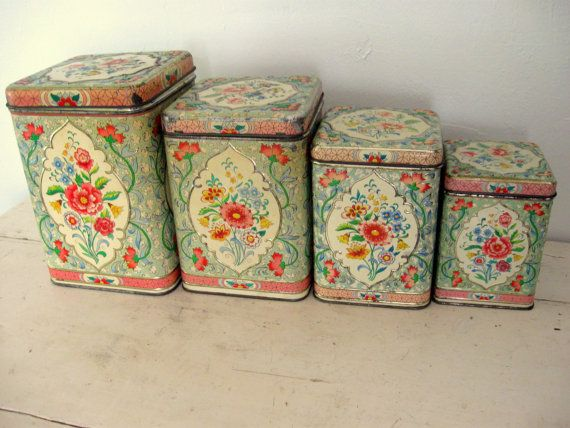 daher holland vintage canister set