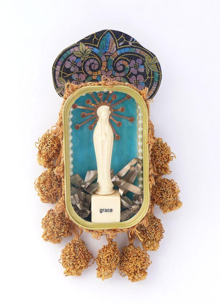 Mary Shrine- Mixed media. Sharon Cornthwaite / CARDOG DESIGN