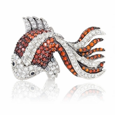 19 best images about broaches pendants on pinterest for Koi fish ring