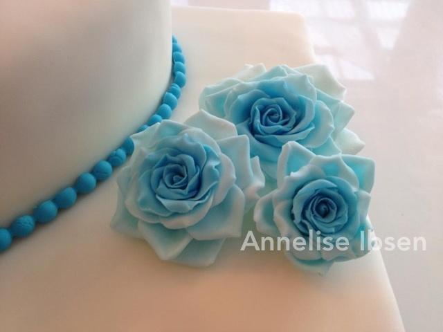 Blue blå rose