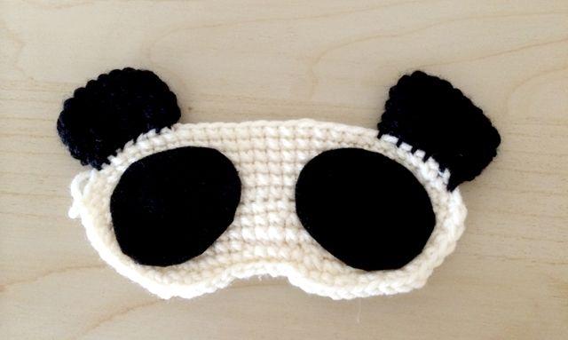 Panda sleep mask free crochet pattern