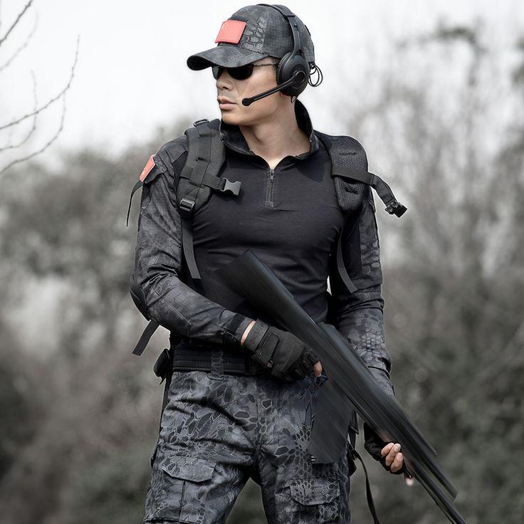 Military Uniforms Army Black Clothing Men Tactical Pants With Knee Pads Uniforme Militar Combat CS Tatico Clothes Fardas Militar
