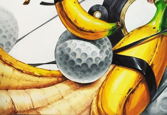 골프공 & 바나나(자연물)