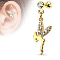 Helix piercing hanger fairy gold plated