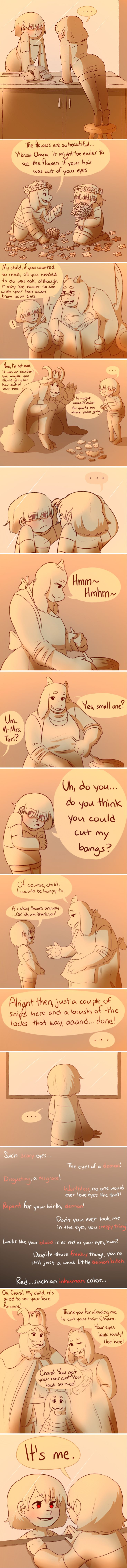 You have to wonder how Chara ended up hating humanity so much? I don't blame her of course.