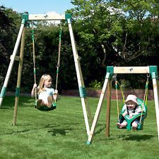 Forest Growable Acorn Swing Wooden DIY Playground Adjustable Swing frame Kit NEW