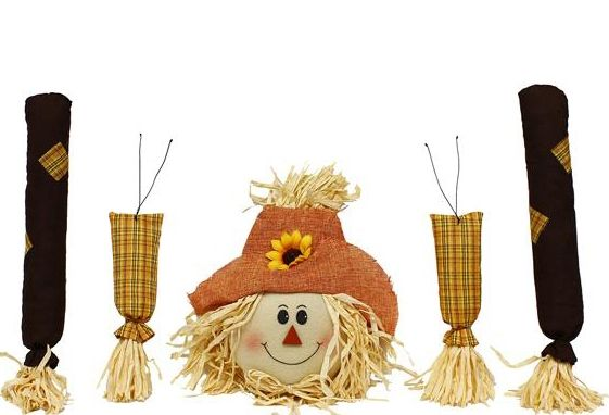 Scarecrow Wreath Kit Fall Scarecrow Decor Set 5pc