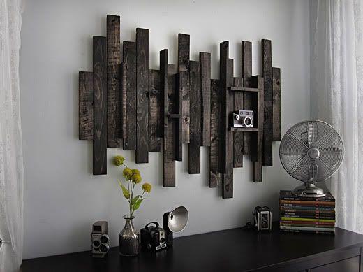 Rustic Wall Art: Wall Decor, Decor Ideas, Walldecor, Rustic Wall, Diy Wall Art, Wooden Wall, Wood Shelves, Wood Wall, Barns Wood