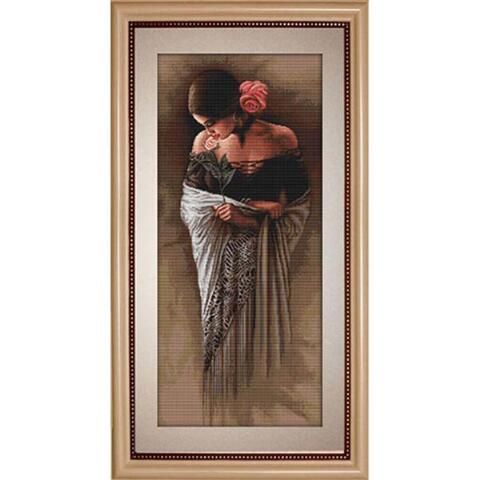 Luca-S Latin Beauty with a Flower Counted Cross-Stitch Kit