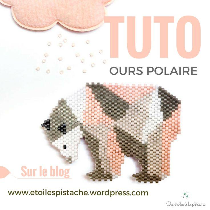 Tuto tissage de perles Brick Stitch motifs ours polaires (c) Des étoiles à la Pistache Blog : www.etoilespistache.wordpress.com