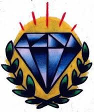 Image result for traditional diamond tattoo