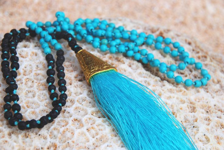 Turquoise Keramas Mala - yoga praying mala - spiritual gift by HoliMalas on Etsy https://www.etsy.com/listing/469029923/turquoise-keramas-mala-yoga-praying-mala