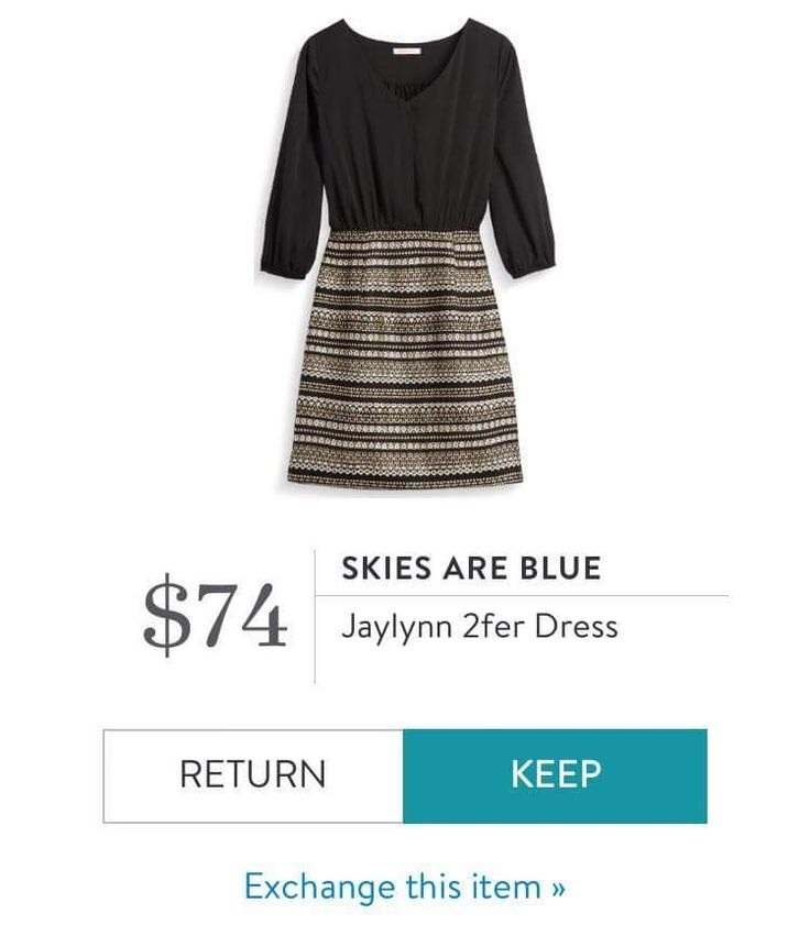 Skies are blue Jaylynn 2fer dress stitch fix