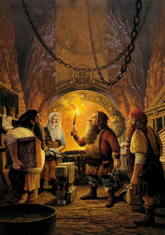 "Keith Parkinson ""Ring dwarf Andvari"""