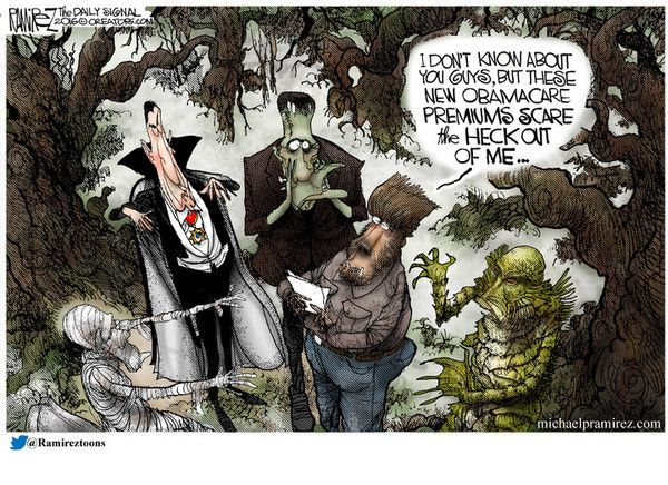 RealClearPolitics - Cartoons of the Week - Michael Ramirez for Oct 29, 2016 - Political Cartoons